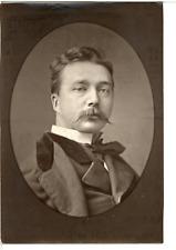 France, Jules Lefebvre, artiste peintre  Vintage print. Jules Lefebvre, né à Tou