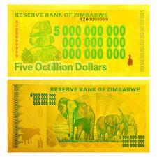 "★★ ZIMBABWE : BILLET POLYMER  "" OR "" DU 5 OCTILLION DOLLARS  ★"