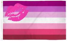 large Lipstick Kiss Lesbian Rainbow gay pride 3X5 Flag banner signs Fl782 lips