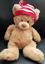 "Gund Tan/Brown PS NYC Aeropostale Teddy Bear Wearing Cap plush - 15"" 2013"