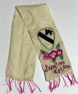 Original Korean War 1951 Dated 1st Cav, Seoul Korea, Vet Bring Back Scarf
