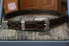 "Handmade Bulls Hide Leather Gun Belt 1 1/2"" Wide, Brown, CCW, Cowboy/Western"