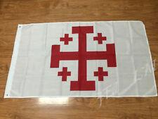 JERUSALEM CROSS FLAG 3x5FT 90x150CM TWO GROMMETS