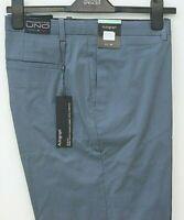 "New M&S Autograph  Mens Steel Blue Italian Fabric Trousers 42""W 31"" Regular."