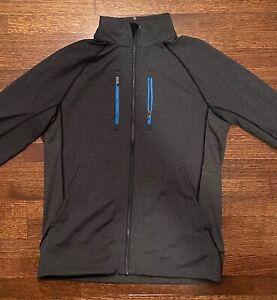 Lululemon shift jacket Heathered Grey Blue Zipper Medium M