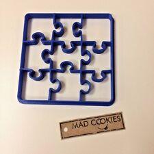 Puzzle Cookie Cutter Desk - 1 cut - 9 forms - Plastic 3d printed (PLA)
