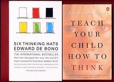 2 Edward De Bono books: Six Thinking Hats & Teach Your Child How to Think