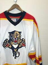 NHL Florida Panthers CCM Inaugural White Authentic Hockey Jersey - Sz 48 (L)