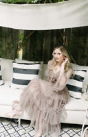 H&M Sandra Mansour Flock Tulle Spotted Size 10 Sold Out Bloggers Favourite