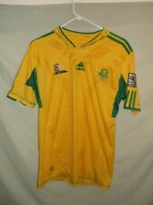 ADIDAS team South Africa Soccer jersey Med gold Football 3 stripes shirt