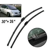 "30""+26"" Front Windshield Wiper Blades Kit For Renault Espace MK4 2002-2014"