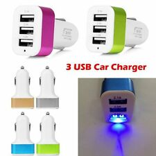 5.1A 3 Port USB Car Charger Adapter For iPhone 7 6S Samsung S8 Plus Universal
