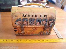 Walt Disney's School Bus Dome Top lunch box metal Aladdin
