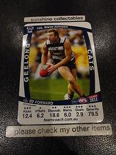 2011 AFL TEAMCOACH BASE CARD GEELONG NO.135 STEVE JOHNSON