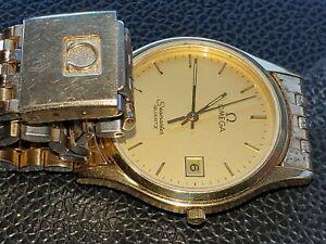Vintage mens omega seamaster gold tone watch