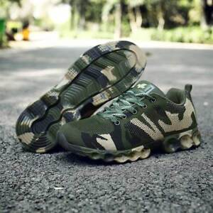 Mens Camouflage Running Athletic Army Sneakers Casual Mesh Hiking Sport Shoes Sz
