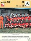 FICHE CARD : Le RC ALBI 1977-1978 Photo Equipe RUGBY 70s