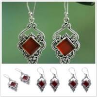 Fashion Women Statement Boho Crystal Geometric Dangle Drop Earrings Jewelry Z