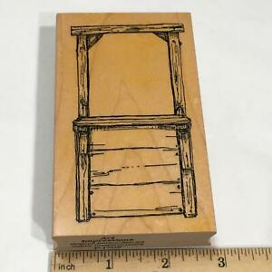 Art Impressions Rubber Stamp Wooden Stand Front #P-1705 1998 Cards, Scrapbooking
