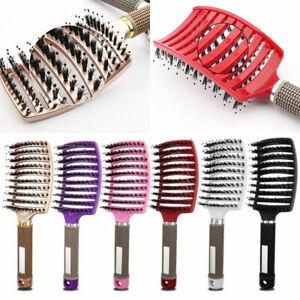 Women Hair Scalp Massage Comb Bristle&Nylon Hairbrush Curly Detangle Hair Brush