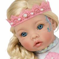 "Paradise Galleries Reborn Mermaid Doll - Pearl Little Mermaid, 21"", Posable Tail"