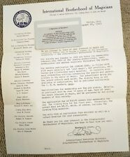 Signed Letter by Thomas Dowd, Sec. of Ibm, Invitation to Join, 1963 - Historical