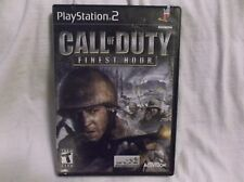PS2 COD Call Of Duty Finest Hour Black Label Edition Complete, Tested