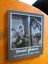 SOCIAL GRACES Larry Fink Rare Photography Book First Edition