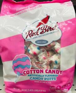 """""""HUGE"""" Red Bird Cotton Candy Mint Puffs Bag 30oz ~* FREE PRIORITY SHIPPING ! *~"""