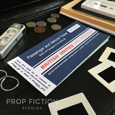 James Bond 007: Goldfinger - Prop BUAF British United 10-Page Airline Ticket