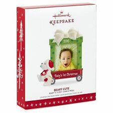 "Hallmark Baby's First 2016 ""Beary Cute"" Dated Picture Frame Ornament (NIB)"