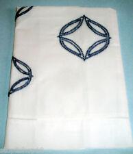 Sferra COSSA Boudoir Sham White/Cornflower Blue Embroidery Cotton Percale New