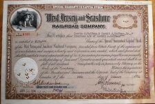 West Jersey & Seashore Railroad 1954 Stock Certificate/Dog-Camden, New Jersey NJ