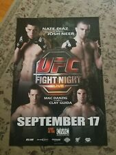 NATE DIAZ UFC FIGHT NIGHT (29X37) FULL SIZE POSTER! SUPER RARE. ONLY ONE ON EBAY