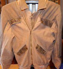 Vintage Guess Paris Georges Marciano Cotton Jacket Mens S Double Zip Front Rare