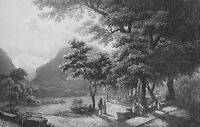 SWITZERLAND Jungfrau Interlachen !! Antique Print Engraving