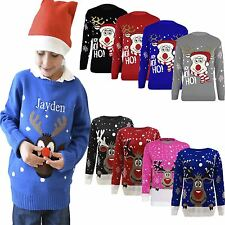 Kids Jumper Christmas Xmas Sweater Girls Boys Childrens Retro New Age 3-12
