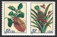 Scott 3126-27- Merian Botanical Prints, Booklet Pair- MNH (S/A) 32c 1997- 3127b
