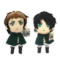 2pcs Attack on Titan Jean Kirstein & Eren 12 Inch Plush Doll Soft Toy Xmas gift