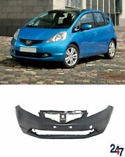FRONT PLASTIC BUMBER WITH FOG LIGHT HOLES COMPATIBLE WITH HONDA JAZZ 2009-2015