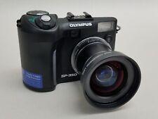 """Olympus SP-350 2.5"""" LCD 8MP Digital Camera w/ Wide Conversion Lens WCON-07F B2"""