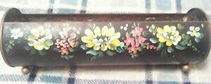 "Nashco Toleware Vtg 12"" Hand Painted Planter"