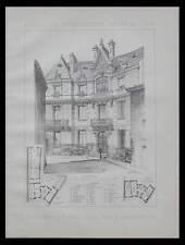 FERRALS LES CORBIERES, HOTEL PRIVE - 1890 - PLANCHE ARCHITECTURE - BERTRAND