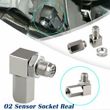 90 Degree O2 Sensor Socket Catalytic Converter Engine Light Eliminator Silver