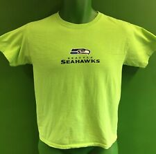 T676/145 NFL Seattle Seahawks Lime Green T-Shirt Youth Medium 10-12