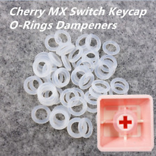 LOTS 120PCS White Rubber O-Ring Dampers Keycap Mechanical keyboard For Cherry MX