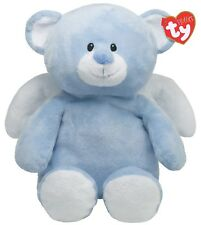 TY Little Angel The Pluffies Collection Winged Fluffy Baby Blue Bear