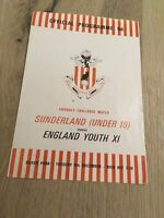 SUNDERLAND UNDER 19  V ENGLAND YOUTH XL 1969/70