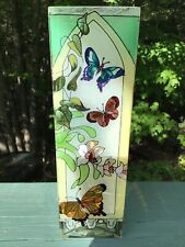 New listing Joan Baker Handpainted Butterfly Design Vase 10�x3� Gorgeous!