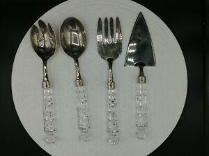 SHANNON CRYSTAL By GODINGER Versailles 4 Piece Serving Set 24% Lead Crystal